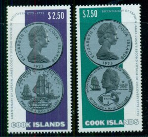COOK ISLANDS #406-7, Mint Never Hinged, Scott $30.00