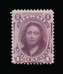 GENUINE HAWAII SCOTT #30 F-VF MINT NG 1866 PURPLE PRINCESS KAMAMALU #15821