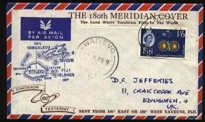 FIJI 1963 180th Meridan cover - WAIYEVO cds................................71688