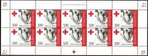 Bosnia / Croatian Post 2012 International Day of Red Cross sheet of 10 MNH