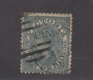 Australia Victoria 1865 10d Grey SG119 Cat £140 Fine Used JK2408