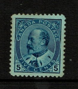 Canada SC# 91, Mint Hinged, Hinge Remnants, some toning - S11397