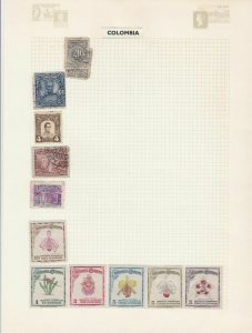 COLOMBIA MINT AND USED ON ALBUM PAGE