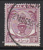 Malaya Perak 1950 Sc 111 10c Used