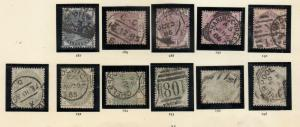 1883 SET COMPLETE TO 1/- INCLUDING 9D USED. SG187 TO SG196