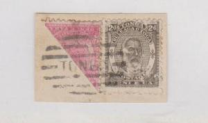 Tonga - Gibbons #10B Bisect stamp on piece