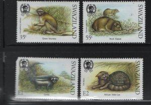 SWAZILAND 539-542 (4) Set, Hinged, 1989 Small Mammals