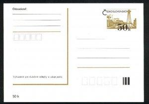 Czechoslovakia   Imprinted Postcard   Mint gold PD