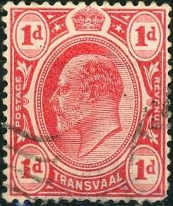 Transvaal #253 1p Edward VII Used