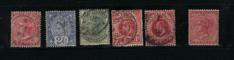 Natal  6 different Mint & used start 1874  PD