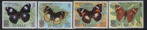 TUVALU, 146-149, (4) SET, MNH, 1981, BUTTERFLIES
