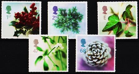 Great Britain. 2002 Christmas.(5 Values).Self Adhesive. Unmounted Mint