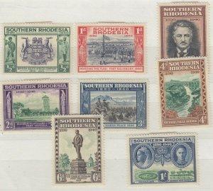 Southern Rhodesia 1940 Set To 1/- MH JK410