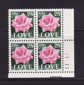 United States 2378 Plate Block MNH Flower, Rose (B)