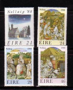 Ireland Sc 730-3 1988 Christmas stamp set mint NH