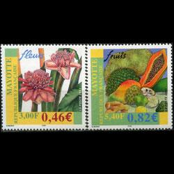 MAYOTTE 2001 - Scott# 154-5 Flowers Set of 2 NH
