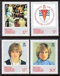 British Antarctic Territory 92-95 Princess Diana Birthday MNH VF