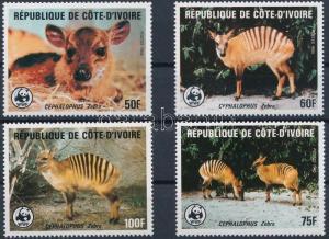 Ivory coast stamp WWF Zebra duiker set MNH 1985 Mi 881-884 WS220827
