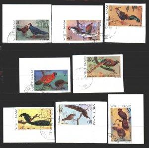 Vietnam. 1979. 1044u-51u. Birds, fauna. USED.