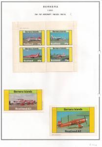 SCOTLAND - BERNERA - 1982 - Aircraft (2) - 4v Perf. Min., D/L Sheets - MLH