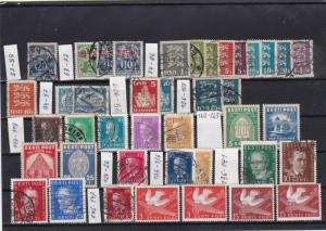 estonia mounted mint & used stamps ref 18501