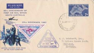 AFC161)AUSTRALIA 1ST FLIGHT COVER 1957-GAWLER-SOUTH AUSTRALIA -AAMC-1379