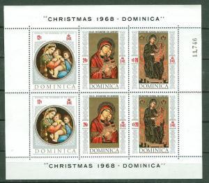 Dominica # 241 Christmas souvenir sheet   1968  (1) Mint NH
