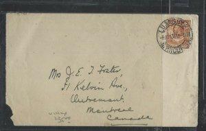 NORTHERN RHODESIA (PP1302B)  1936 KGV 2D ELEPHANT COVER LUANSHYA TO CANADA