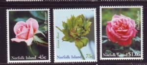 Norfolk Island Sc 683-85 1999 Roses stamp set mint NH