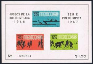 Mexico 983a,985a sheets,MNH.Michel Bl.7-8. Olympics Mexico-1968.Canoeing,Fencing