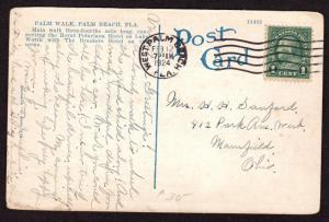 $Florida Machine Cancel Cover, West Palm Beach, 2/12/1924, latest recorded imp.