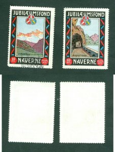 Denmark. 2 Poster Stamp +_ 1910 Navere Traveled Journeymen, Copenhagen