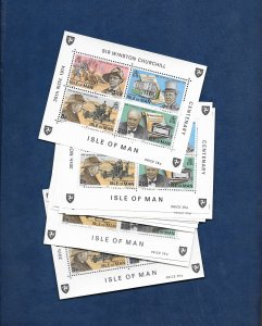 ISLE OF MAN 1974 CHURCHILL M/SHEET x 15 copies