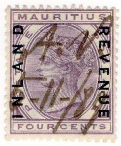(I.B) Mauritius Revenue : Inland Revenue 4c (1889)