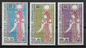 1964 Central Africa  #CB1-3 UNESCO Save Historic Monuments MNH