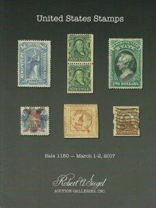 U.S. Classic Stamps, Robert A. Siegel, Sale #1150, March 1-2, 2017