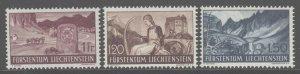 Liechtenstein 1937 Landscapes set Sc# 136-50 NH