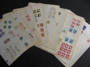 Canada 385 used stamps creating partial, full surrounds, interesting group!