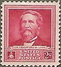 United States #875 2c Dr Crawford W. Long MNG (1940)