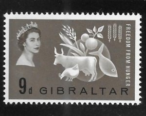 Gibraltar 1963 Freedom from Hunger Sc 161 Mint hinged A874