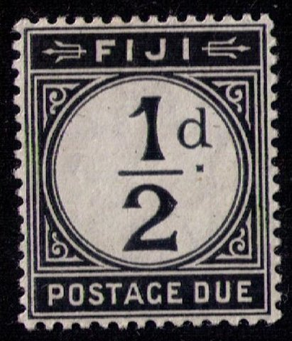 FIJI SCOTT #J8 MLH,Og 1/2d Black POSTAGE DUE VF/XF