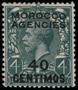 Great Britain Offices in Morocco Scott 66 Variety Gibbons 148a Mint Stamp