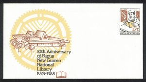 Papua NG National Library Pre-stamped Envelope PSE #15