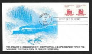 UNITED STATES FDC 11¢ Caboose 1984 KMC Venture