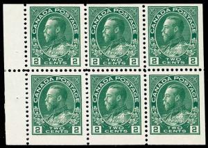 Canada Scott 107c Gibbons 247ab Block of Stamps