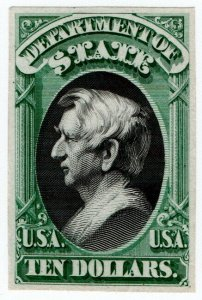 (I.B) US Postal Service : Department of State $10 (proof)