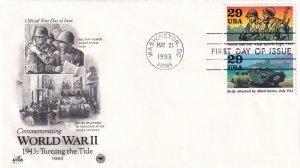 1993, Turning the Tide-WW2-1943, Art Craft/PCS, FDC (E11353)