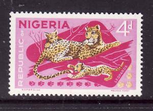 Nigeria-Sc#261-unused hinged 4p lilac & multi Leopard-Animals-1969-72-