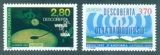 Andorra - French #436-437  MNH  Scott $4.50