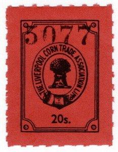 (I.B) Liverpool Corn Trade Association : Fee Stamp 20/-